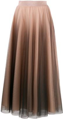 D-Exterior Tulle Maxi Skirt