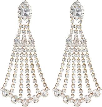 Elizabeth Cole Shantay Crystal Chandelier Earrings