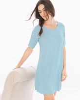 Soma Intimates Loose Fit Short Sleeve Sleepshirt Infinite Stripe Blue