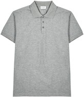 Saint Laurent Grey Pique-cotton Polo Shirt