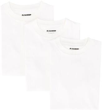 Jil Sander logo patch detail round neck T-shirt