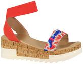 Yoki Women's Sandals TIE - Red & Blue Tie-Dye Brenda Sandal - Women