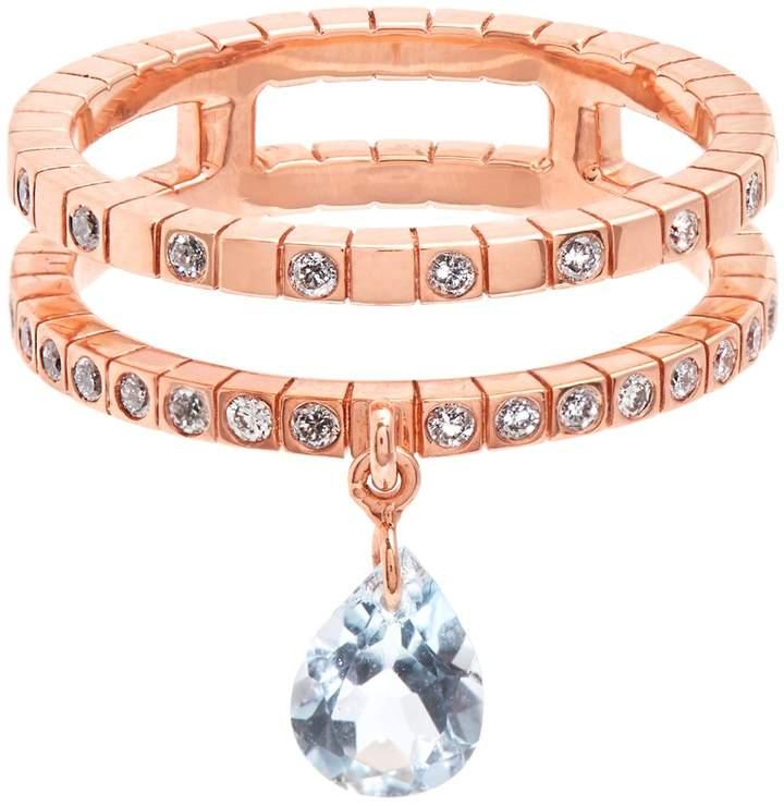 Diane Kordas Diamond, topaz & rose-gold Cosmos ring