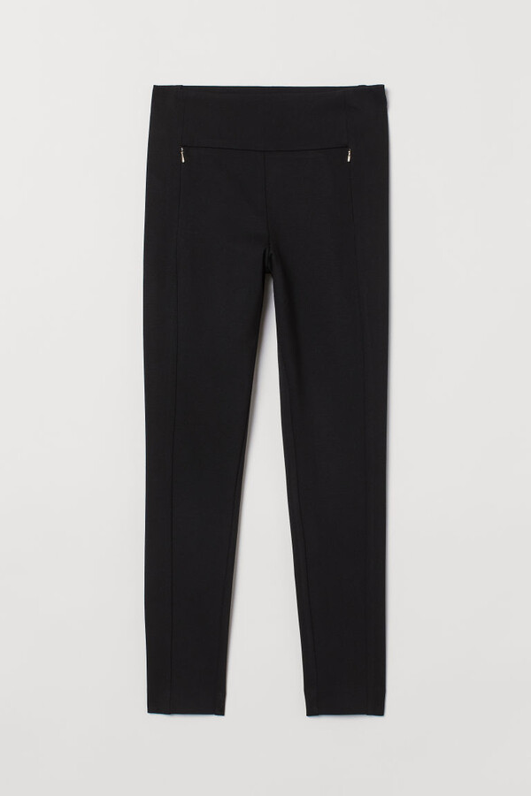 H&M Skinny Fit Pants with Stretch - Black
