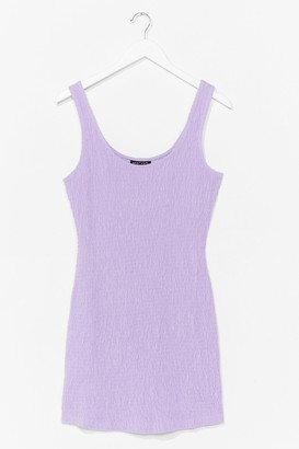 Nasty Gal Womens You Shirred Me Fitted Mini Dress - Lilac