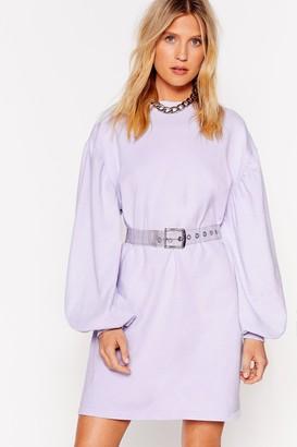 Nasty Gal Womens Came Here to Chill Mini Sweatshirt Dress - Grey - 4