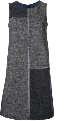 Paule Ka Colour-Block Shift Dress