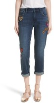 Kate Spade Women's Sequin Patch Boyfriend Jeans