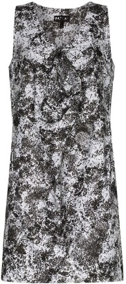 PASKAL clothes Lunar print front detail dress
