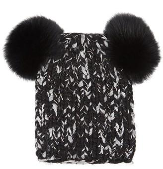 Eugenia Kim Mimi Fur Pompom Wool-blend Beanie