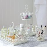 PBteen White Wire Beauty Storage