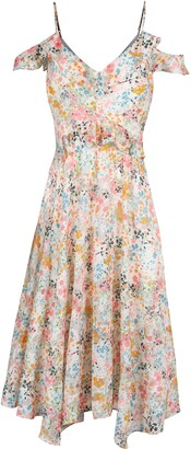 Rachel Roy Floral Print Handkerchief Hem Dress