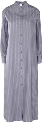 Max Mara Striped Cotton Poplin Shirt Long Dress