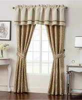 """Waterford Home Ansonia Ivory Pole Top Pair 100"""" x 84"""" Window Drapery Bedding"""