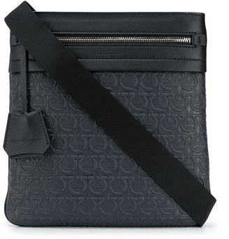 Salvatore Ferragamo embossed Gancini pattern messenger bag