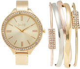 jessica carlyle ST1130 Gold-Tone Watch & Bangle Set