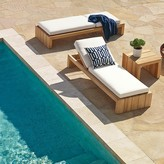 Williams-Sonoma Williams Sonoma Larnaca Outdoor Teak Chaise