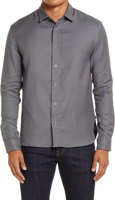 HUGO BOSS Niceto Relaxed Fit Twill Snap-Up Shirt