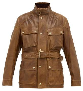 Ralph Lauren Purple Label Callum Leather Field Jacket - Mens - Brown