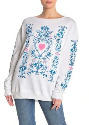 Wildfox Couture Printed Tunic Sweatshirt