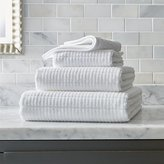 Crate & Barrel Manhattan White Bath Towels