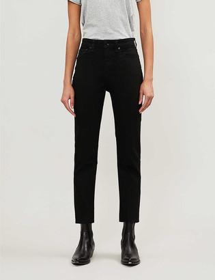 Rag & Bone Nina cropped straight-leg mid-rise jeans
