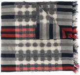Issey Miyake Textured Check Print Scarf