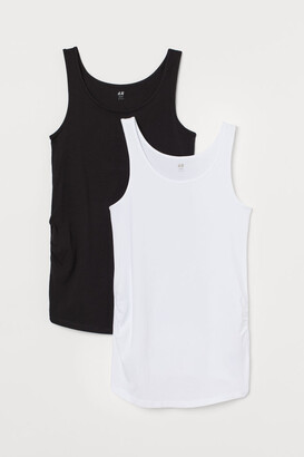 H&M MAMA 2-pack cotton vest tops