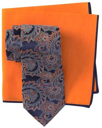Ted Baker Silk Large Paisley Tie & Pocket Square Set