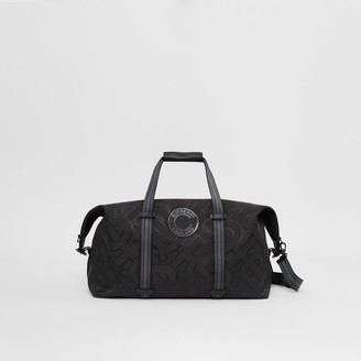 Burberry Monogram Recycled Polyester Jacquard Holdall
