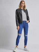 Dorothy Perkins Black Collarless Biker Jacket