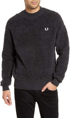 Fred Perry Boucle Crewneck Wool Blend Sweater