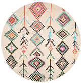 nuLoom Belini Hand-Tufted Wool Moroccan Round Rug