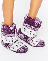 Bedroom Athletics Bedroom Athletis Jessica Fairisle Slipper Boot
