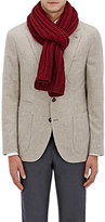Barneys New York Men's Rib-Knit Wool-Cashmere Scarf-RED