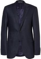 Canali - Blue Sienna Slim-fit Slub Wool And Silk-blend Suit Jacket