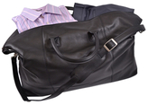 Royce Leather Weekender Duffel Bag with GPS Tracking Technology