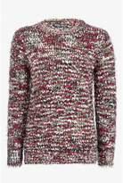 Select Fashion Fashion Womens Red Multi Popcorn Eyelash Jumper - size 6