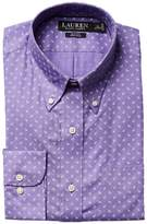 Lauren Ralph Lauren Slim Fit Non Iron Poplin Mini Paisley Print Spread Collar Dress Shirt Men's Long Sleeve Button Up