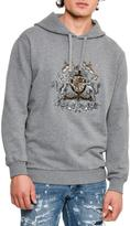 Dolce & Gabbana House Crest Mélange Hoodie, Medium Gray