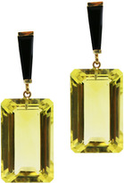 "Joan Hornig Zelda"" Lemon Quartz Drop Earrings"