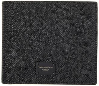 Dolce & Gabbana Black Dauphine Bifold Wallet