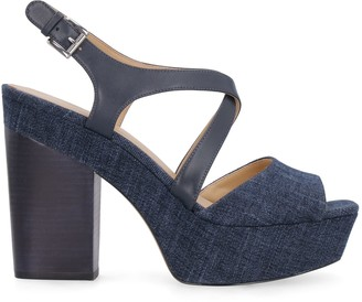 Michael Kors Denim Sandals With Heel