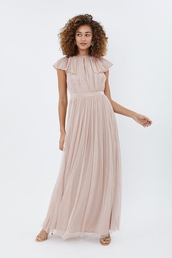 Coast Angel Sleeve Mesh Maxi Dress