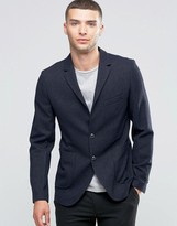 Sisley Slim Fit Wool Blend Suit Jacket with Patch Pocket
