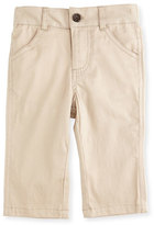 Andy & Evan Twill Straight-Leg Pants, Khaki, Size 6-24 Months