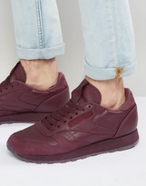 Reebok Classic Leather 'jam' Trainers In Red Bd2529