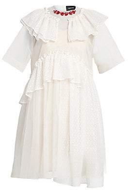 Simone Rocha Women's Embellished Collar Tiered Frill Dress