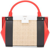 Perrin Paris colour-block tote - women - Leather/Straw - One Size