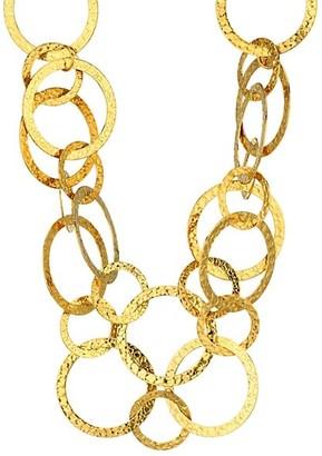 Sylvia Toledano Saturn Hammered Ring Necklace